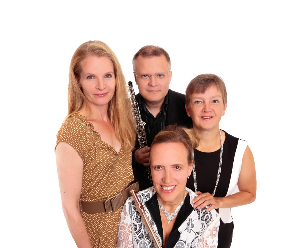 Katja Geist (Schauspielerin),</br> Nicolas Wallach (ob), </br>Annette Hermeling (fl), Bettina Pfeiffer (p)