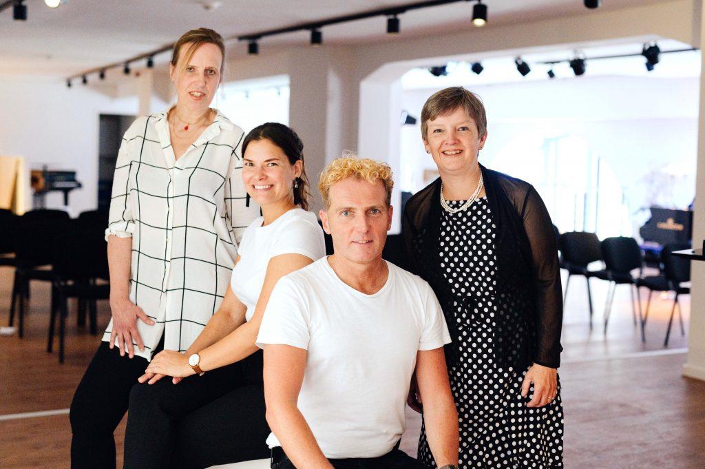 Annette Hermeling (fl), FenjaSchneider(Schauspielerin),</br> Arne Gruetzmacher (ob), Bettina Pfeiffer (p)