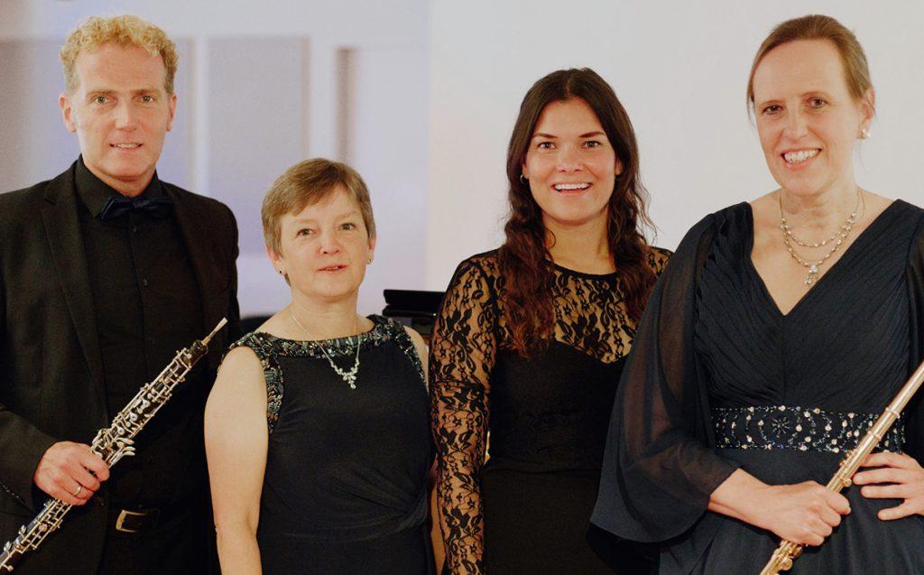 Arne Gruetzmacher (ob), Bettina Pfeiffer (p), </br>Fenja Schneider (Schauspielerin), Annette Hermeling (fl)